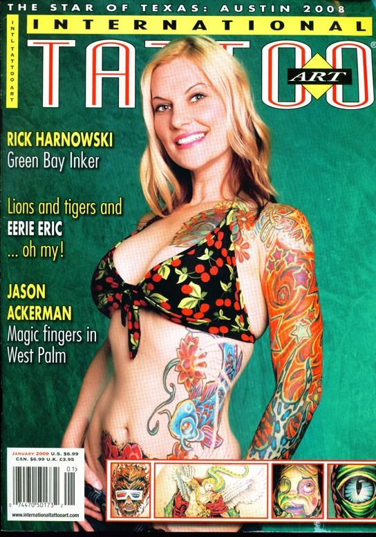 Chris Gunn's art featured on the cover of Tetovani Tattoo Art Magazine