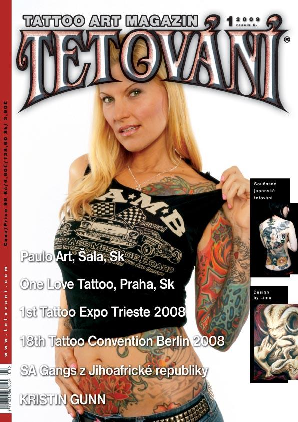 MOVE Magazine cover - Work by Chris Gunn 2010. Tetovani Tattoo Magazine